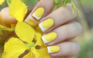 Маникюр с цветками желтый: маникюр, фото дизайна ногтей