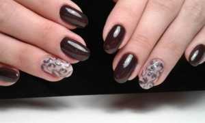 Шоколадный маникюр: маникюр, фото дизайна ногтей