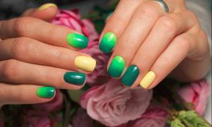 Зеленый маникюр с авокадо: маникюр, фото дизайна ногтей
