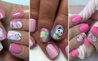 Вкусное мороженое на маникюре: маникюр, фото дизайна ногтей