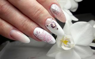Изумительный свадебный маникюр с узорами: маникюр, фото дизайна ногтей