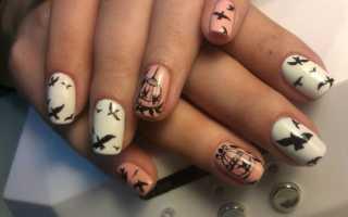 Маникюр с птицами розовый: маникюр, фото дизайна ногтей