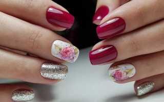 Маникюр белый с цветками: маникюр, фото дизайна ногтей
