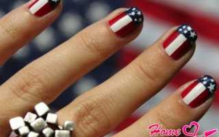 Американский маникюр – фото, дизайн ногтей американский флаг, уроки по оформлению ногтей