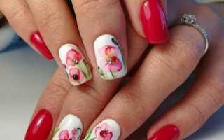 Маникюр с акварельным дизайном: маникюр, фото дизайна ногтей