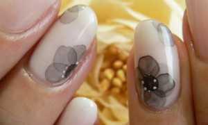 Акварельная роспись: маникюр, фото дизайна ногтей