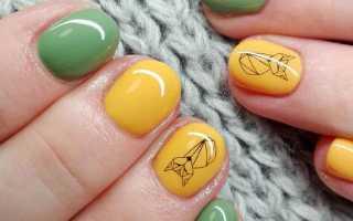 Маникюр оранжевый с лисой: маникюр, фото дизайна ногтей
