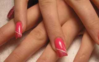 Акриловые наращенные ногтики с кракле: маникюр, фото дизайна ногтей