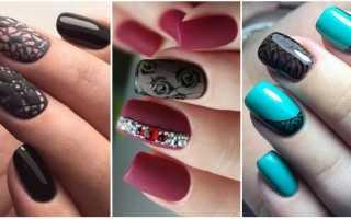 Ажурные вензеля и френч в маникюре: маникюр, фото дизайна ногтей
