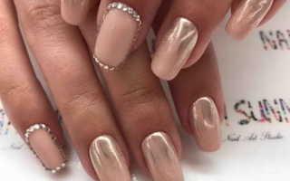 Восхитительный свадебный маникюр с жемчугом: маникюр, фото дизайна ногтей