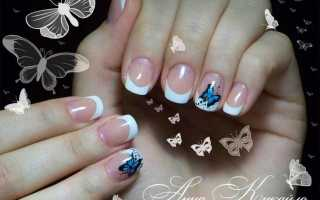 Алые бабочки на длинных ногтях: маникюр, фото дизайна ногтей