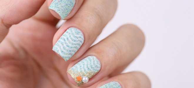 Бархатный узор на короткие ногти: маникюр, фото дизайна ногтей