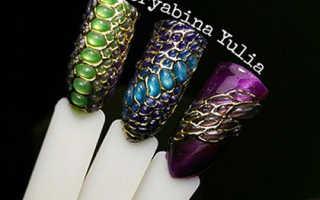Эффект рептилии на ногтях: маникюр, фото дизайна ногтей