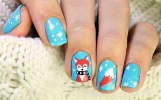 Милые лисички – осенний маникюр: маникюр, фото дизайна ногтей