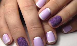 Фиолетовый маникюр с золотым литьем: маникюр, фото дизайна ногтей