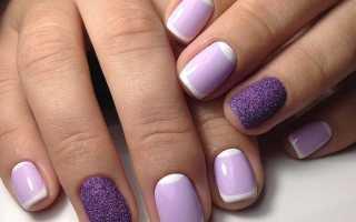 Благородный фиолетовый в матовом маникюре: маникюр, фото дизайна ногтей