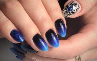 Градиент и цветы на длинных ногтях: маникюр, фото дизайна ногтей