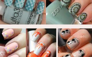 Простые узоры иголкой на темных ногтях: маникюр, фото дизайна ногтей