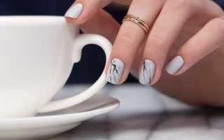 Серый маникюр с мрамором: маникюр, фото дизайна ногтей