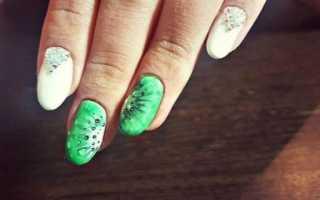 Маникюр с фруктами с киви: маникюр, фото дизайна ногтей
