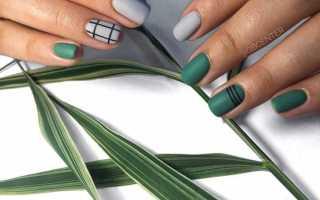 Маникюр зеленый с серым цветом: маникюр, фото дизайна ногтей