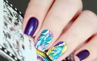 Восхитительный маникюр с перьями и узорами: маникюр, фото дизайна ногтей