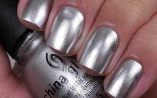Блестящий серебряный маникюр: маникюр, фото дизайна ногтей