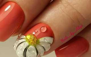 Милые ромашки на розовых ногтях: маникюр, фото дизайна ногтей