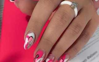 Абстрактная роспись: маникюр, фото дизайна ногтей