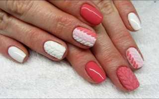Вязаный маникюр на коротких ногтях: маникюр, фото дизайна ногтей