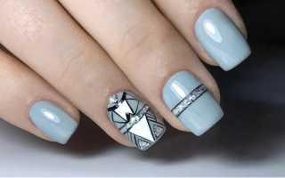 Водный маникюр серый: маникюр, фото дизайна ногтей