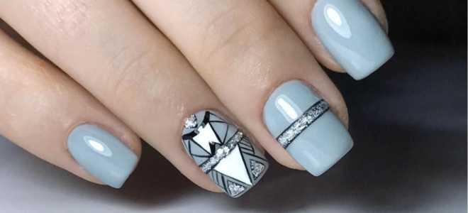 Маникюр белый с серым: маникюр, фото дизайна ногтей