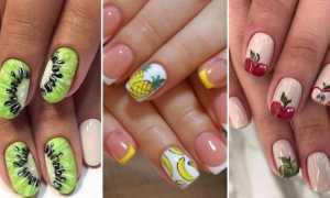 Экзотические фрукты на ногтях: маникюр, фото дизайна ногтей