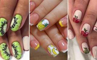Вкусные фрукты на ваших ногтиках: маникюр, фото дизайна ногтей