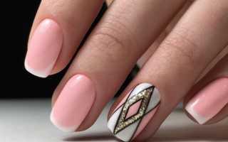 Гелевое наращивание с тигриным френчем: маникюр, фото дизайна ногтей