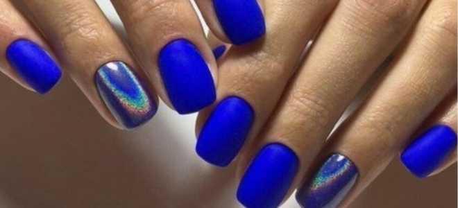 Зимушка – стильный маникюр в синем цвете: маникюр, фото дизайна ногтей
