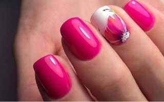 Розовый яркий маникюр: маникюр, фото дизайна ногтей