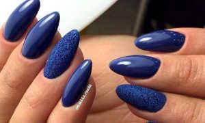 Темно синий маникюр зеркальный: маникюр, фото дизайна ногтей