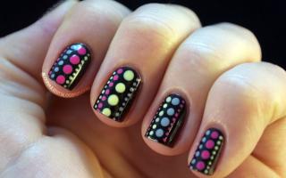 Американская тема: рисунки на ногтях: маникюр, фото дизайна ногтей
