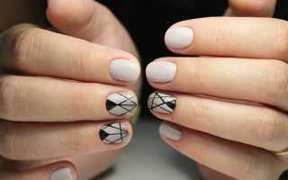 Блеск и геометрия на длинные голубые ногти: маникюр, фото дизайна ногтей