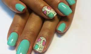 Бирюзовый френч на розовом маникюре: маникюр, фото дизайна ногтей