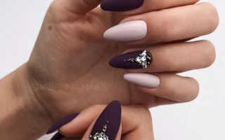 Маникюр с стразами на форму миндаль: маникюр, фото дизайна ногтей