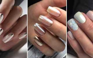 Благолепный свадебный маникюр с жемчугом: маникюр, фото дизайна ногтей