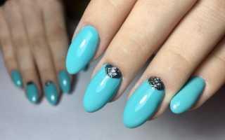 Эффектный маникюр: черный с бирюзой: маникюр, фото дизайна ногтей