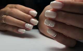 Аккуратный свадебный френч на длинные ногтики: маникюр, фото дизайна ногтей