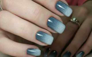 Маникюр с омбре-напылением и сердечками: маникюр, фото дизайна ногтей