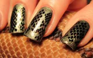 Эффект змеиной кожи: маникюр, фото дизайна ногтей