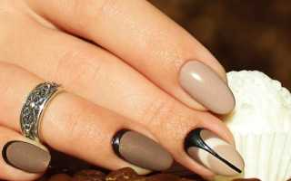 Гель лак для красивого коричневого маникюра: маникюр, фото дизайна ногтей