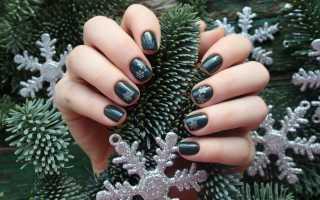 Водный дизайн для зимнего маникюра: маникюр, фото дизайна ногтей