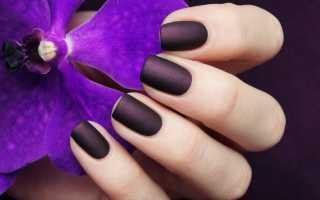 Маникюр цвета баклажан: маникюр, фото дизайна ногтей